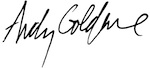 Andy Goldfine, signature